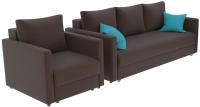 Комплект мягкой мебели Divanta Эдем 7 10-5 (диван, кресло, декор подушки) -