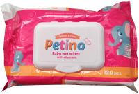 Влажные салфетки детские Petino С аллантоином и экстрактом алоэ вера (120шт) -