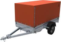 Прицеп для автомобиля Экспедиция Бизнес 111500 Евро (R13, 2500х1250х300, тент/каркас 500-900, оранжевый) -