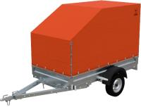 Прицеп для автомобиля Экспедиция Бизнес 111500 Евро (R13, 2500x1250x300, тент/каркас 500-1300, оранжевый) -