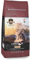 Корм для кошек Landor Полнорационный, живущих в помещении утка с рисом / 7843101 (400г) -