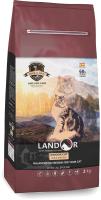 Корм для кошек Landor Полнорационный, живущих в помещении утка с рисом / 7843111 (2кг) -