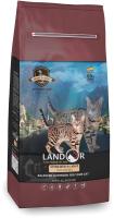 Корм для кошек Landor С избыточным весом и стерилизованных утка с рисом / 7843105 (400г) -