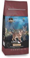 Корм для кошек Landor С избыточным весом и стерилизованных утка с рисом / 7843115 (2кг) -