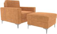 Комплект мягкой мебели Divanta Черчиль люкс 112-08 (Perfect Brandy) -