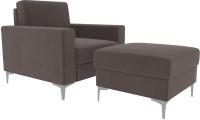 Комплект мягкой мебели Divanta Черчиль люкс 112-10 (Perfect Espresso) -