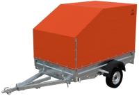 Прицеп для автомобиля Экспедиция Бизнес 111725 Евро (R13, 2500x1350x300, тент/каркас 725-1300, оранжевый) -
