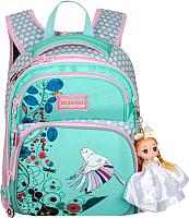 Школьный рюкзак Across ACR18-178A-10 (бирюзовый/розовый) -