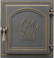 Дверца печная Везувий 271 (бронза) -