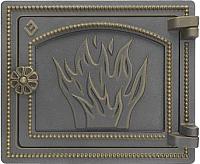 Дверца печная Везувий ДТ-3 (бронза) -