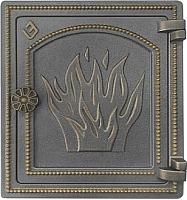 Дверца печная Везувий ДТ-4 (бронза) -