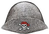 Шапка для бани Главбаня Пират / Б40122 (серый) -