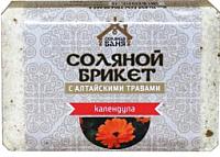 Соляной брикет для бани Соляная баня С алтайскими травами и календулой -