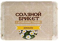 Соляной брикет для бани Соляная баня С алтайскими травами и ромашкой -