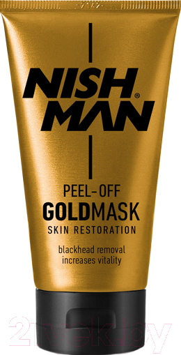 Купить Маска-плёнка для лица NishMan, Peel-Off Gold Mask (150мл), Турция