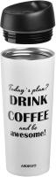Термокружка Ardesto Coffee Time Awesome / AR2645DMW (450мл, бежевый) -