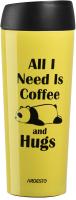 Термокружка Ardesto Coffee Time Panda / AR2645DTY (450мл, желтый) -