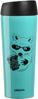Термокружка Ardesto Coffee Time Raccon / AR2645DTB (450мл, голубой) -