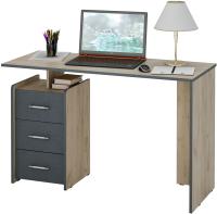 Письменный стол MFMaster Слим-2 / МСТ-ССЛ-02-КС-АЦ-16 (дуб крафт/серый) -