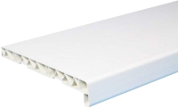 Подоконник No Brand ПВХ стандарт с заглушкой 250x1600 (белый) -