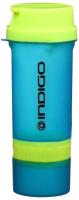 Шейкер спортивный Indigo Bolon IN016 (600мл, салатовый/синий) -