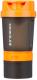 Шейкер спортивный Indigo Kivach IN015 (400мл, черный/оранжевый) -