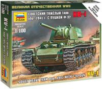Сборная модель Звезда Советский тяжелый танк КВ-1 1941г. / 6190 -