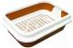 Туалет-лоток ZooExpress Мегакис 11161 (с сеткой и рамкой) -