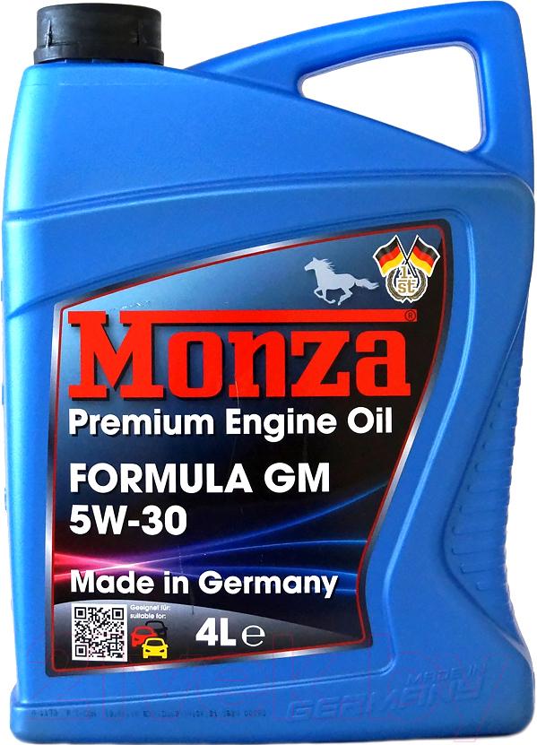 Купить Моторное масло Monza, Formula GM 5W30 / 1365-4 (4л), Германия