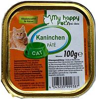 Корм для кошек My Happy Pets С кроликом (100г) -