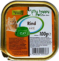 Корм для кошек My Happy Pets Говядина с печенью (100г) -