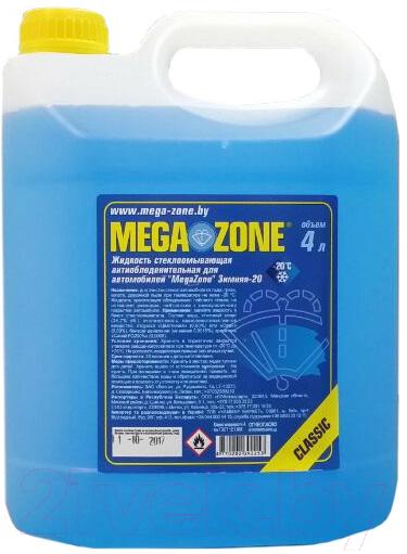 Купить Жидкость стеклоомывающая MegaZone, Classic Зима -20 / 9000063 (4л, синий), Литва, зима