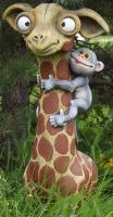 Фигурка для сада Студия Фигур Жираф с обезьянкой / Ф120 -