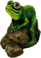 Фигурка для сада Студия Фигур Лягушка на камне / Ф043 -