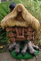 Фигурка для сада Студия Фигур Избушка с соломенной крышей / Ф070 -