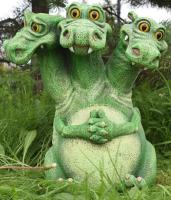 Фигурка для сада Студия Фигур Змей Горыныч зеленый / Ф110Зн -