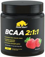Аминокислоты BCAA Prime Kraft 2:1:1 клубника (150г) -