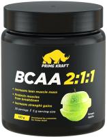 Аминокислоты BCAA Prime Kraft 2:1:1 зеленое яблоко (150г) -