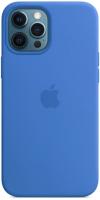 Чехол-накладка Apple Silicone Case with MagSafe для iPhone 12 Pro Max / MK043 (Capri Blue) -