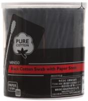 Ватные палочки Miniso 7213 (200шт, черный) -