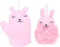 Набор мочалок для тела Miniso Розовый Кролик 0213 -
