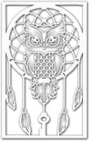 Декор настенный Arthata Ловец снов 25x50-V / 088-1 (белый) -