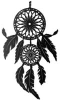 Декор настенный Arthata Индейский амулет 40x80-B / 089-1 (черный) -