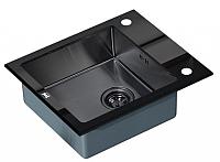 Мойка кухонная ZorG GL-6051 (черный/графит) -