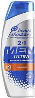 Шампунь для волос Head & Shoulders Против выпадения волос против перхоти для мужчин 2 в 1 (400мл) -