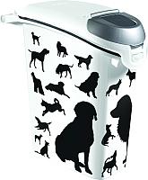 Емкость для хранения корма Curver PetLife 03882-P96-00 / 210341 (черный/белый) -