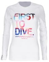 Гидромайка для плавания Aqua Lung Sport Rashguard First Women Ls / CL2110999M (M) -