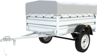 Прицеп для автомобиля ТитаН 2013 / 7197-0000010-01 (50см борт, тент 300мм оцинкованный) -