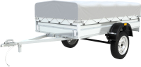 Прицеп для автомобиля ТитаН 2513 / 7197-0000010-02 (30см борт, тент 300мм оцинкованный) -