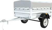 Прицеп для автомобиля ТитаН 2513 / 7197-0000010-02 (50см борт, тент 300мм оцинкованный) -